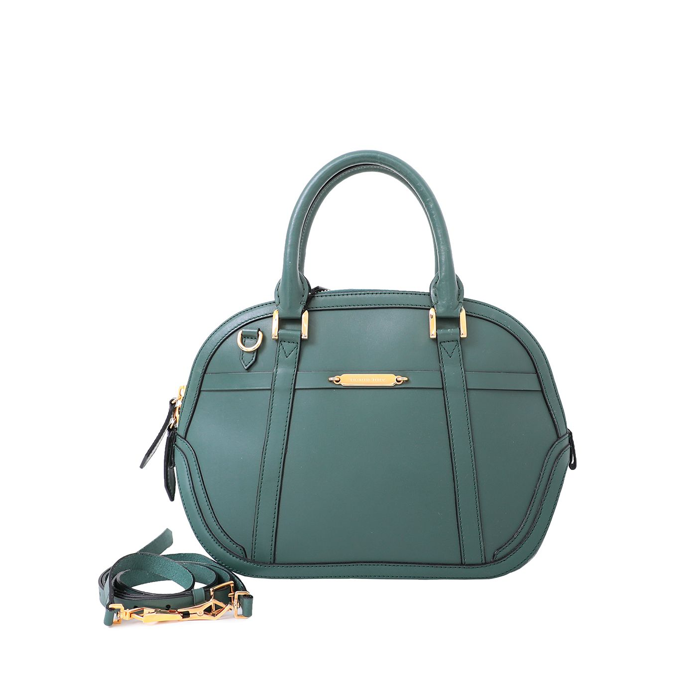 Burberry Green Orchard Satchel Bowler Bag Medium