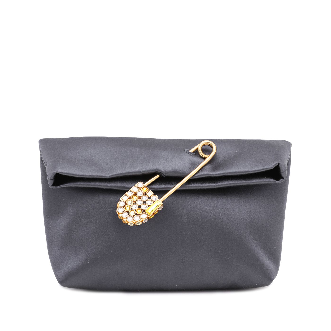 Burberry Gray Pin Satin Clutch