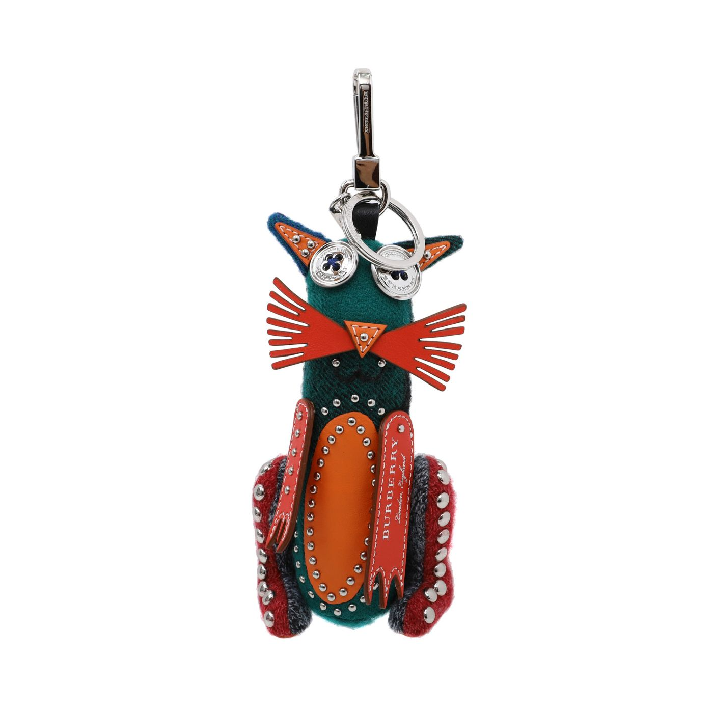 Burberry Multicolor Rufus Cat Bag Charm