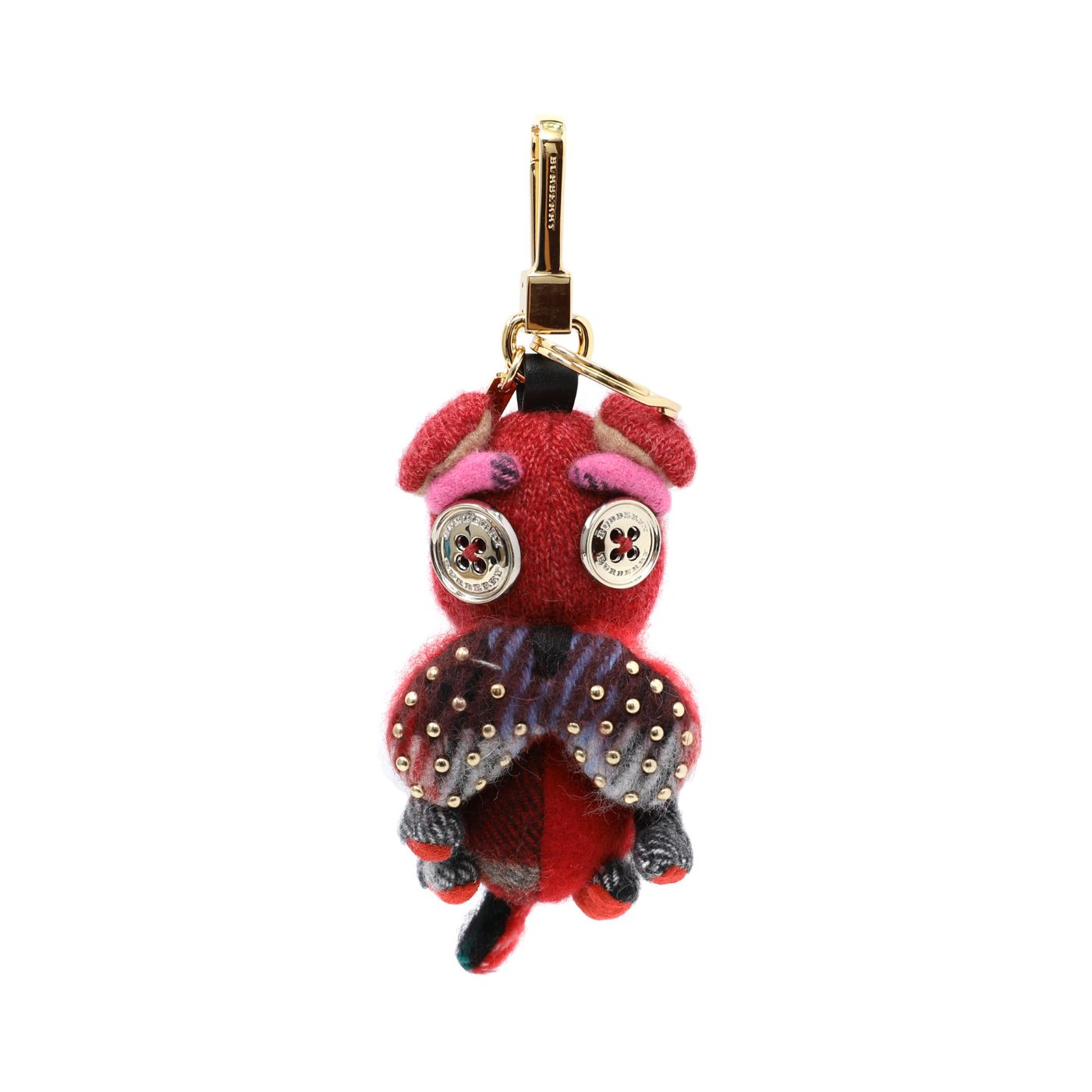 Burberry Red Seymour The Bulldog Bag Charm