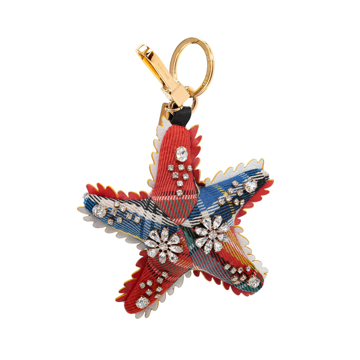 Burberry Multicolor Starfish Fabric Cashmere with Crystal Bag Charm