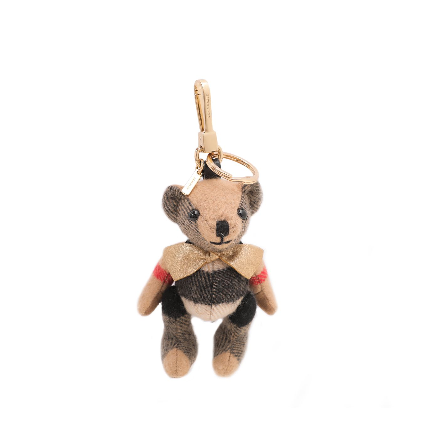 Burberry Brown Thomas Bear Rockstud Bag Charm