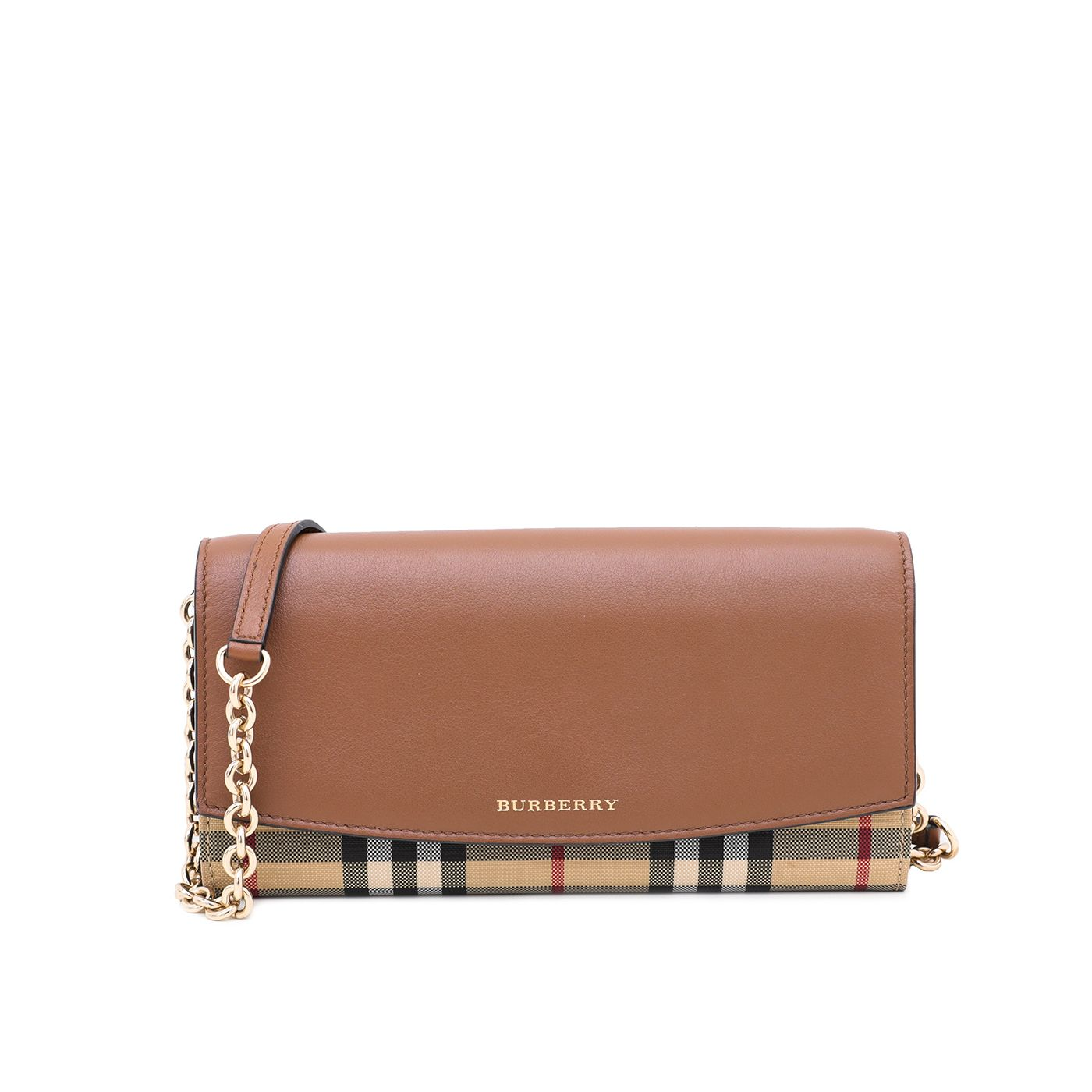 Burberry Brown Checkered Vintage Check Henley WOC