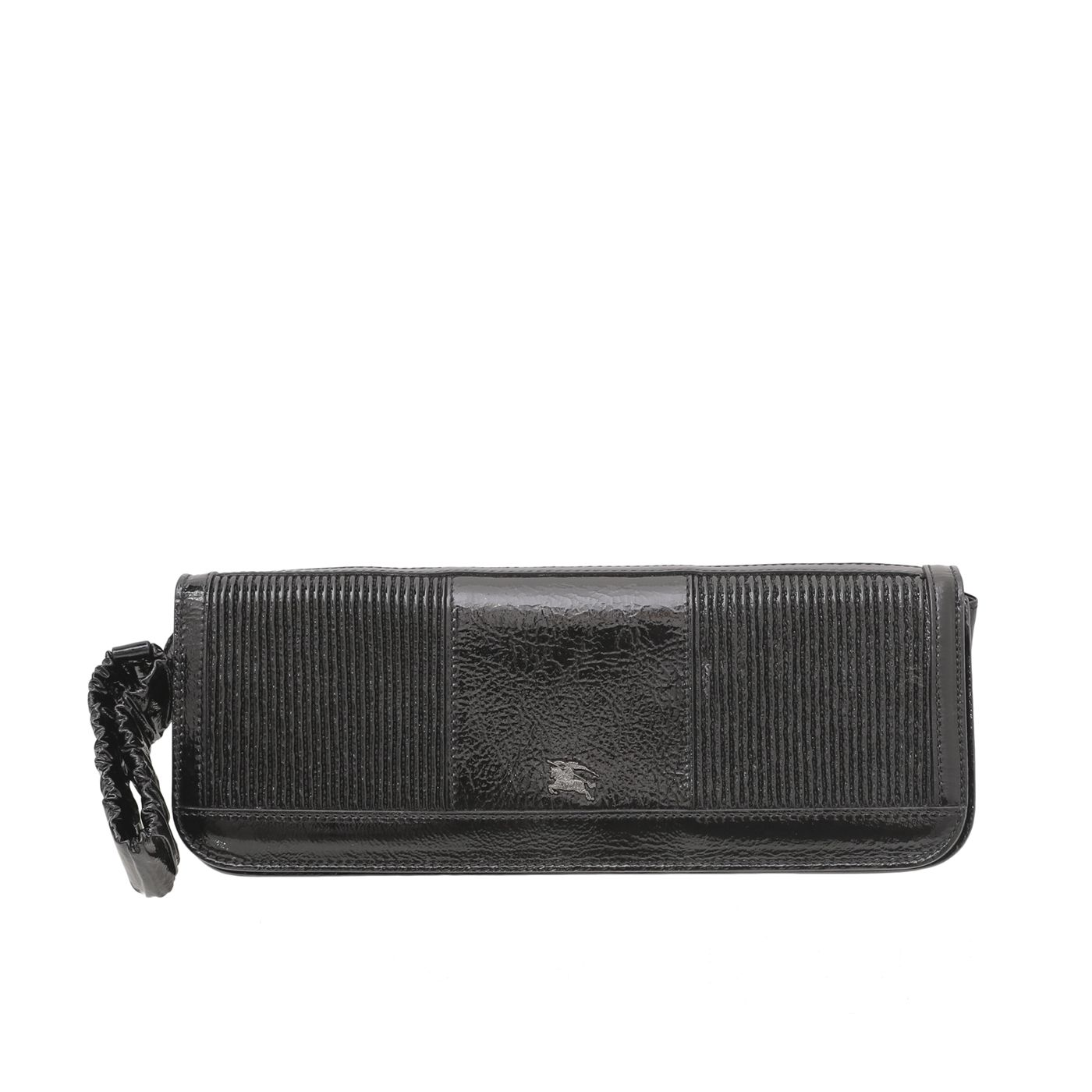 Burberry Black Willow Pleated Elastic Wristlet Clutch