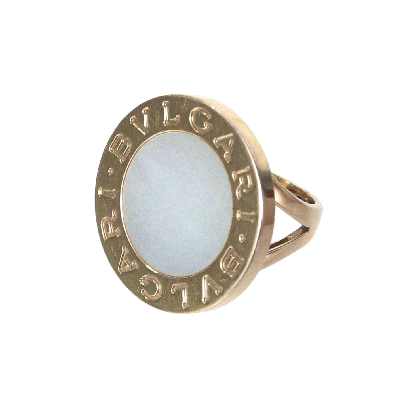 Bvlgari Mother of Pearl Circular Ring 50