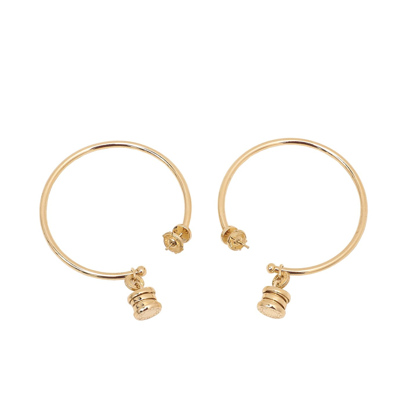 Bvlgari 18K Yellow Gold B Zero Hoop Earrings