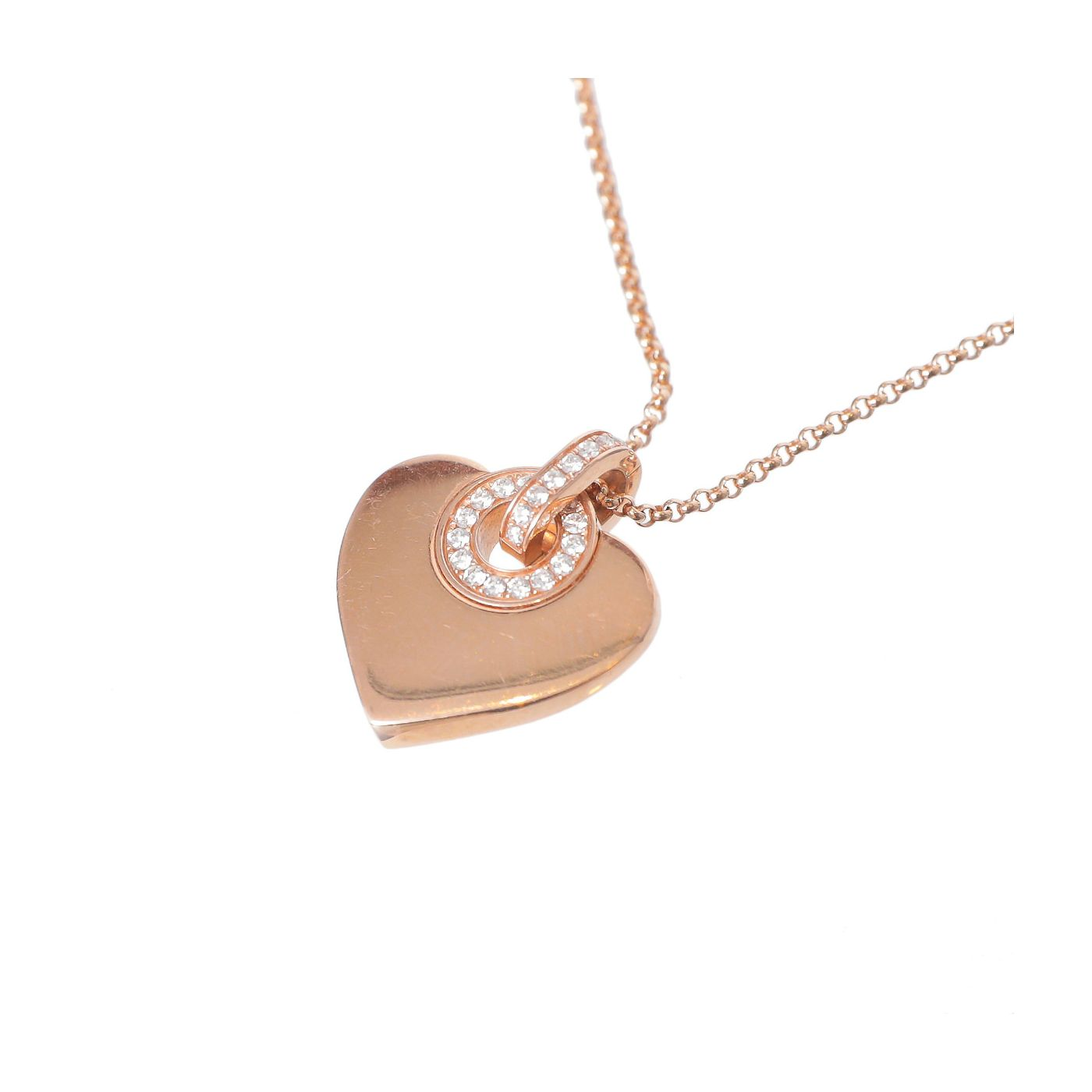 Bvlgari 18k Rose Gold Cuore Heart Necklace