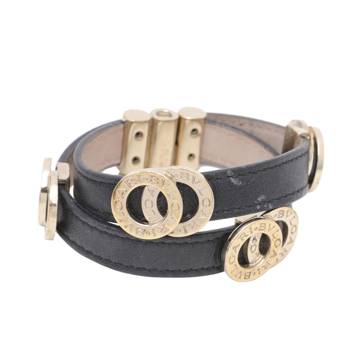 Bvlgari Black Double Coiled Bracelet