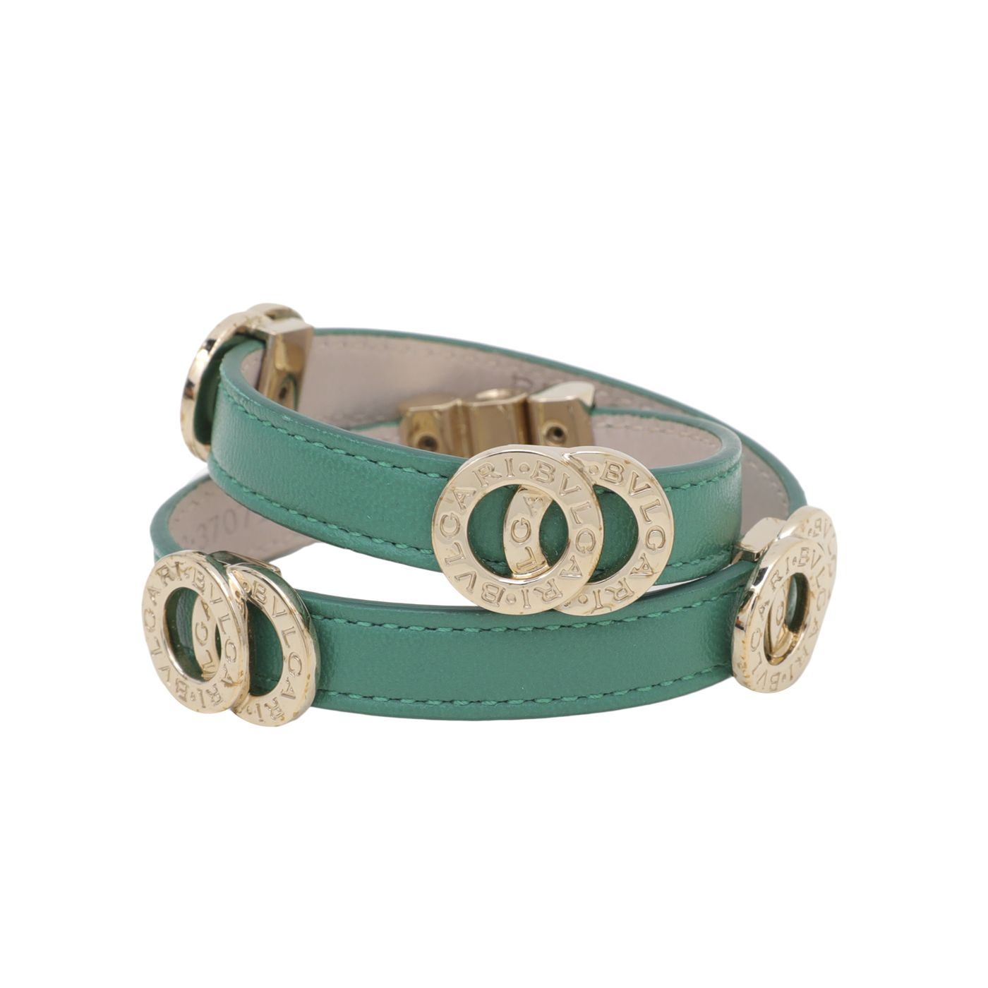 Bvlgari Green Double Coiled Bracelet Small