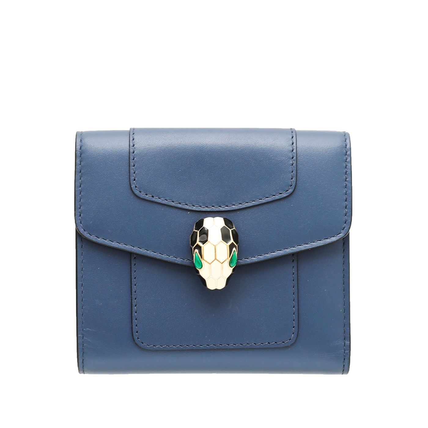Bvlgari Blue Serpenti Forever Trifold Wallet