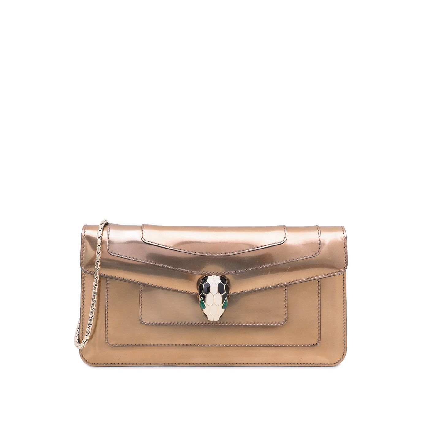 Bvlgari Bronze Serpenti Forever Clutch Chain Bag