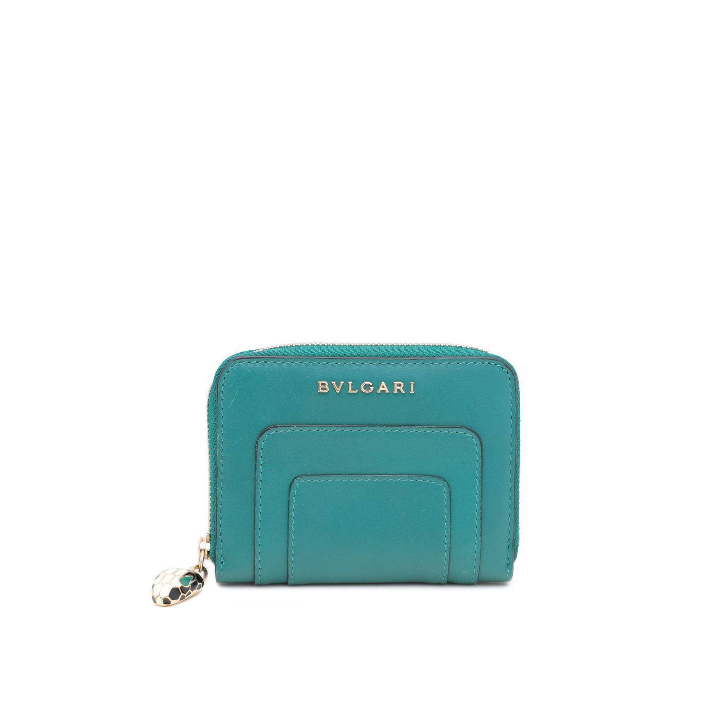Bvlgari Emerald Green Serpenti Forever Mini Wallet