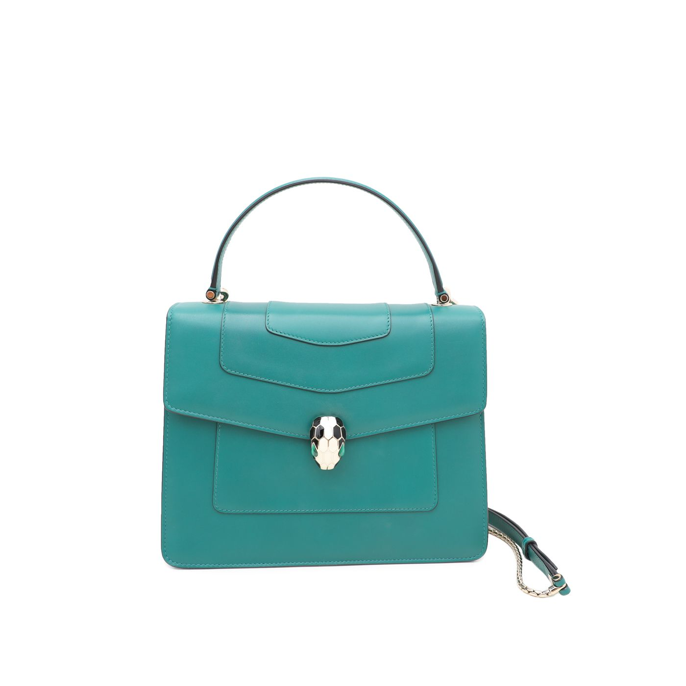 Bvlgari Emerald Green Serpenti Forever Top Handle Bag