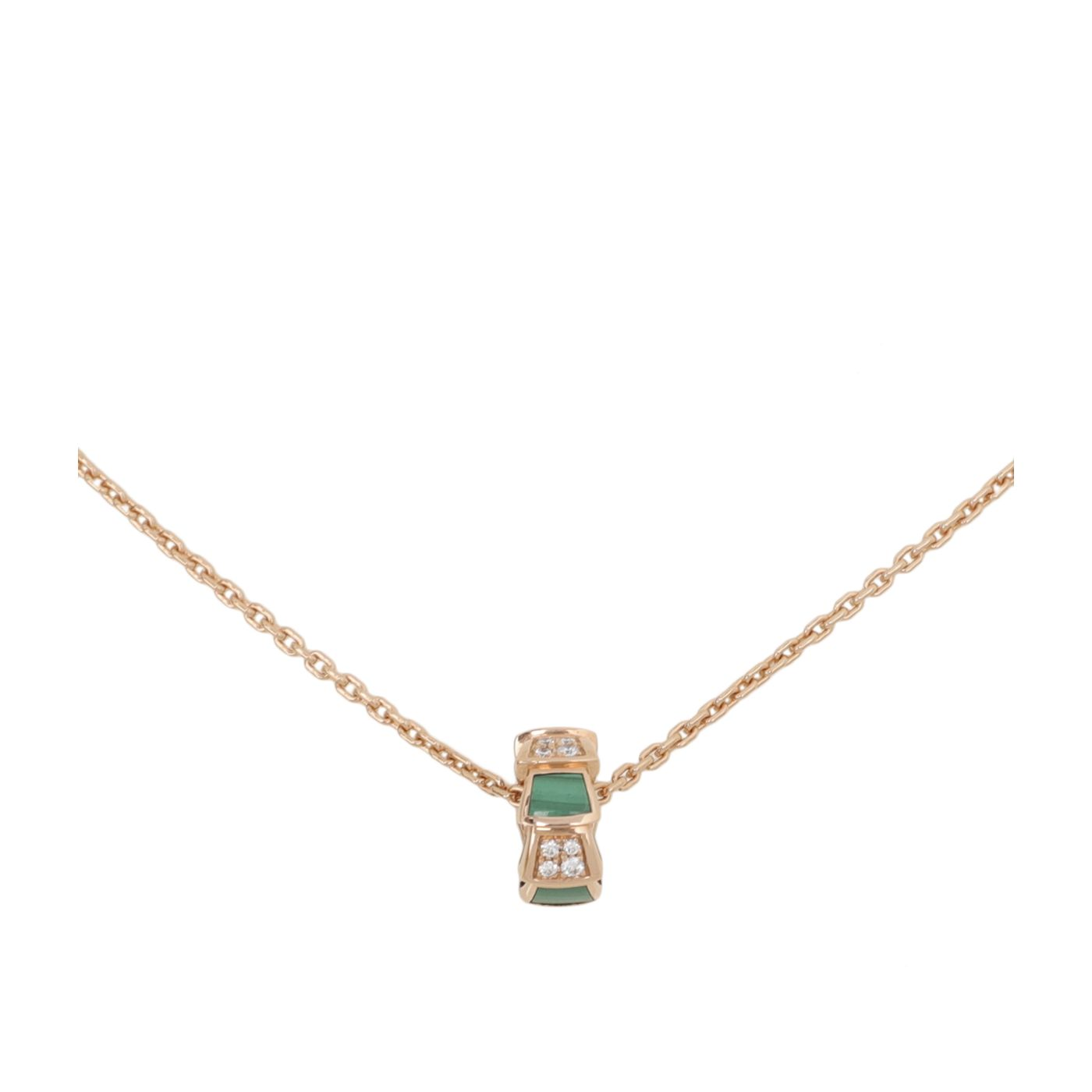 Bvlgari 18K Rose Gold Diamond Serpenti Viper Necklace