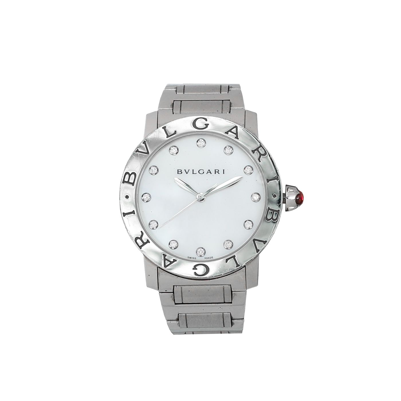 Bvlgari Steel Mother Of Pearl Watch