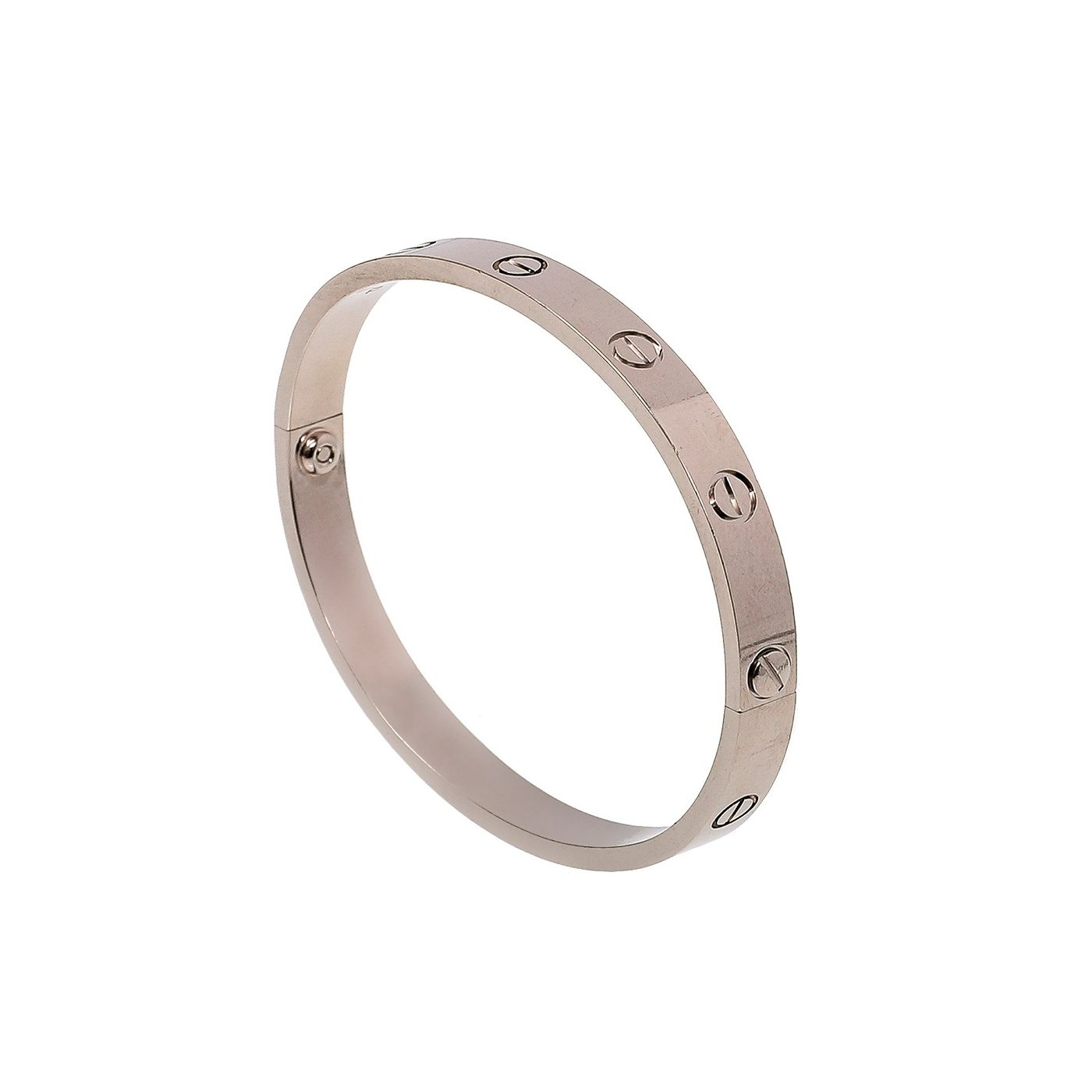 Cartier 18K White Gold Love Bracelet 17