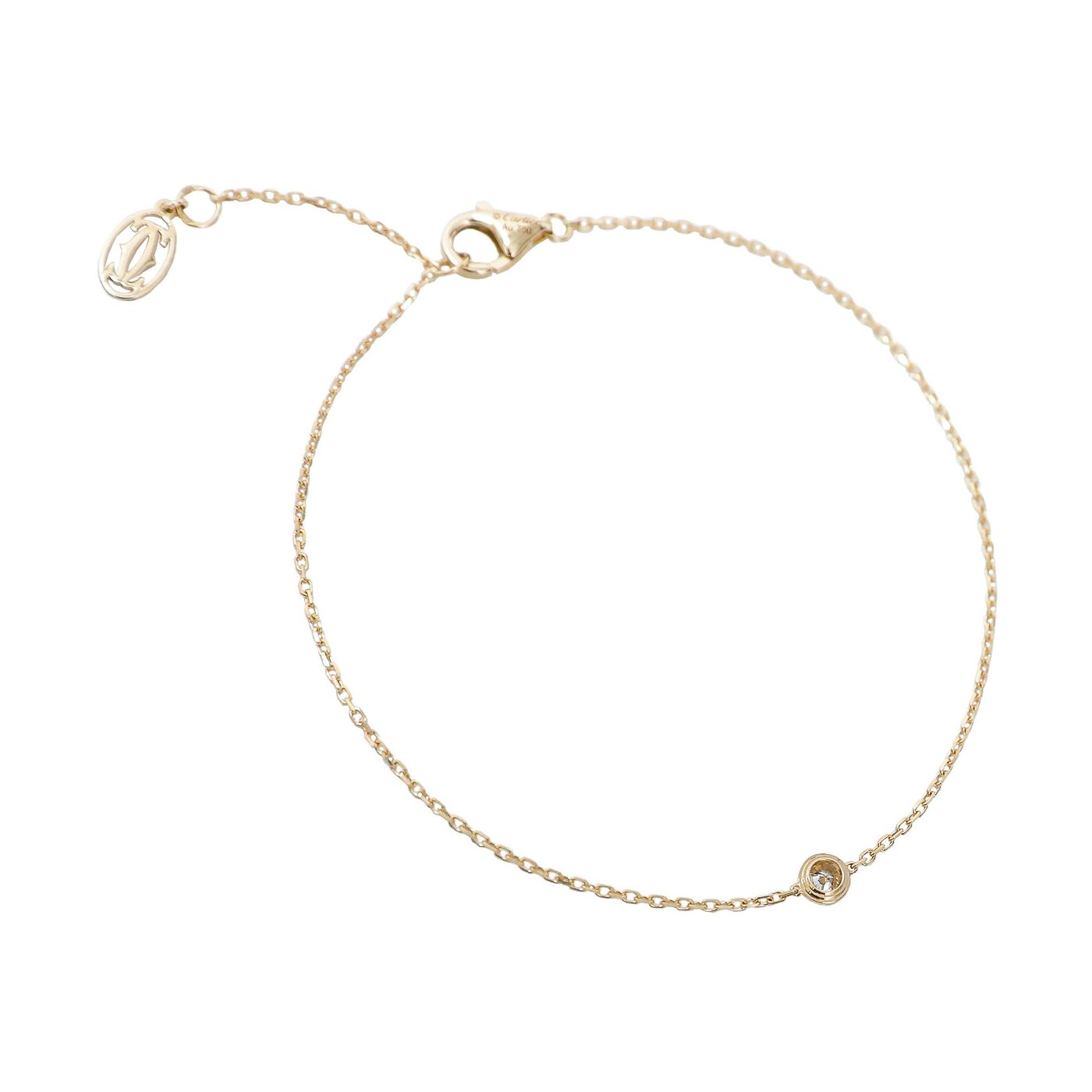 Cartier 18K Yellow Gold Diamants Legers Bracelet