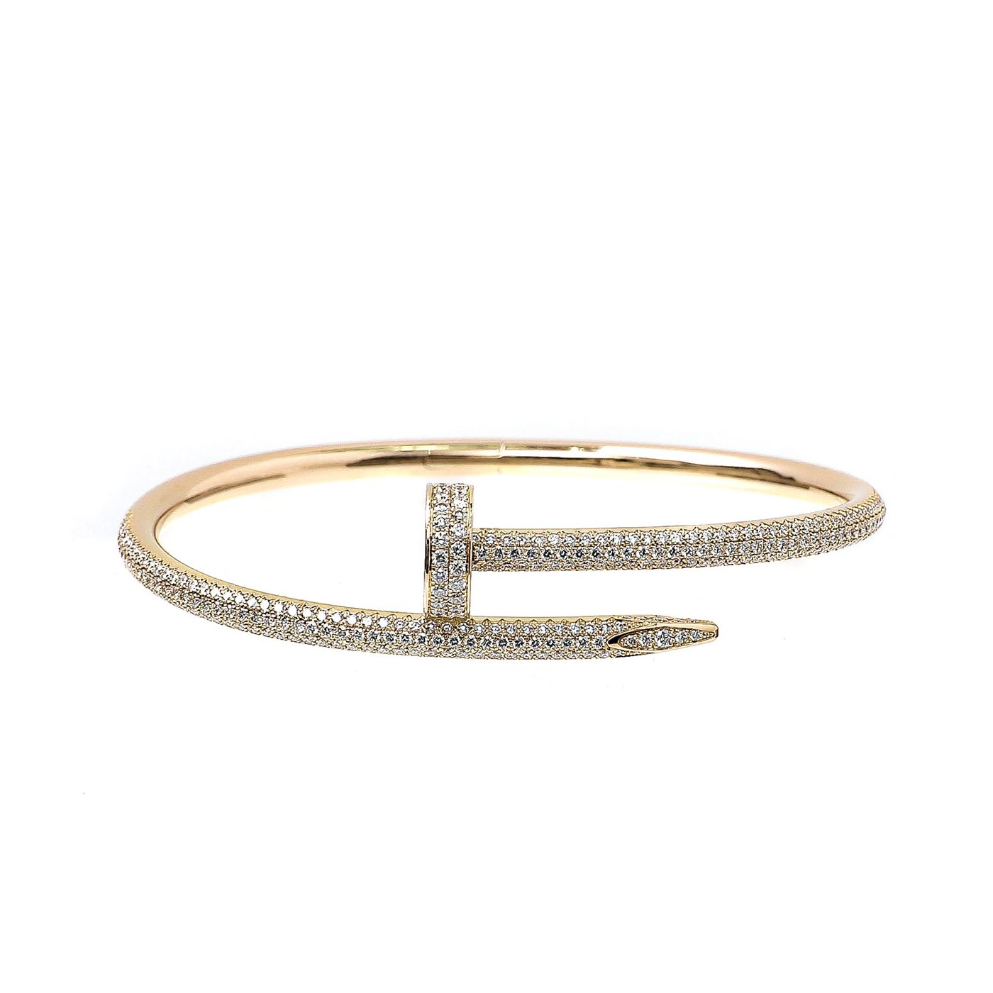 Cartier 18K Rose Gold Diamonds Juste Un Clou Bracelet 17