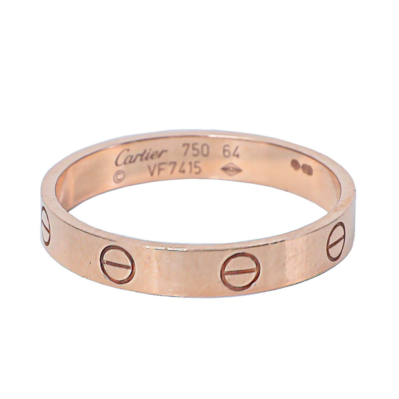 Cartier 18k Pink Gold Love Band Ring 64