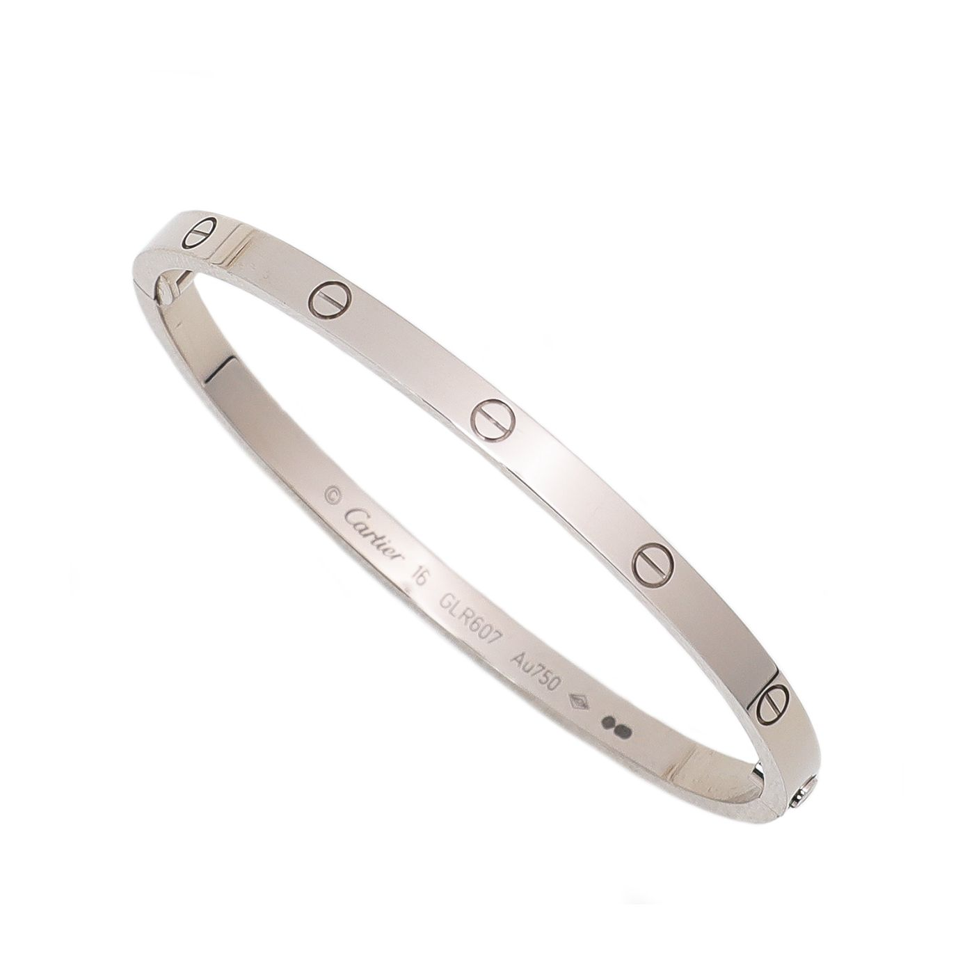 Cartier 18K White Gold Love Bangle Small Model Bracelet