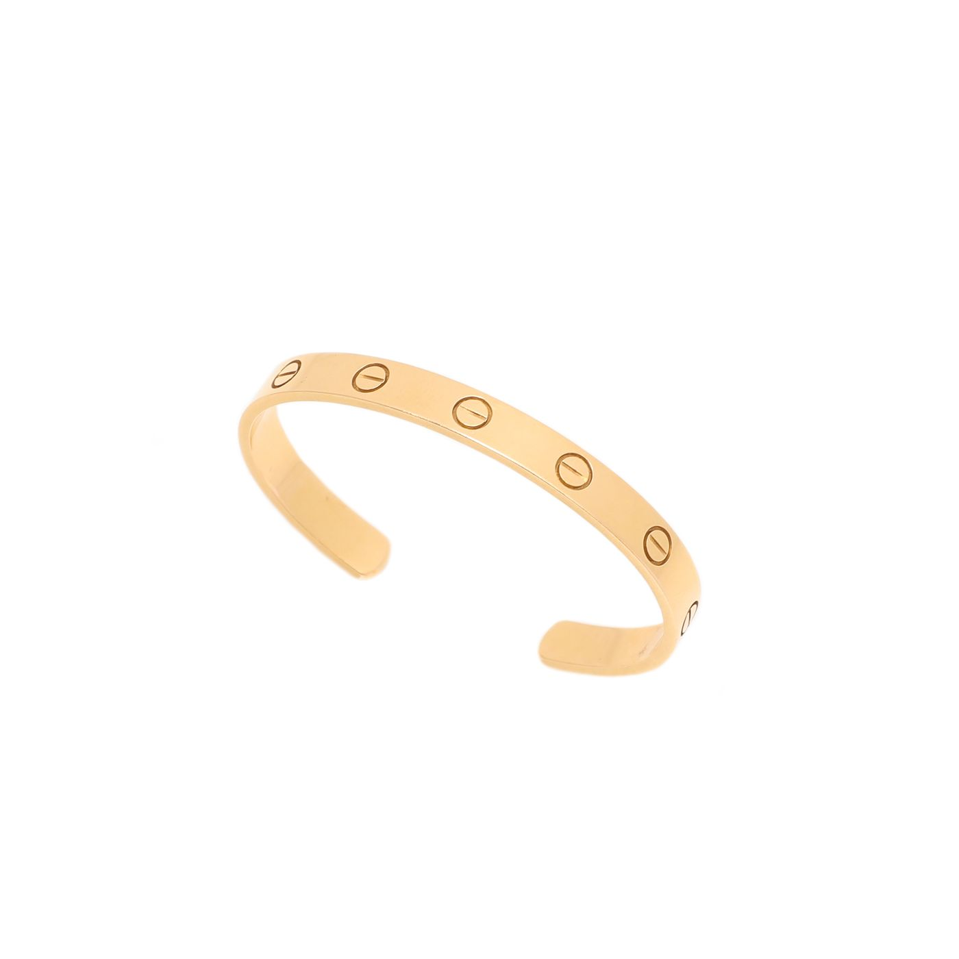 Cartier 18K Yellow Gold Love Open Bracelet 16