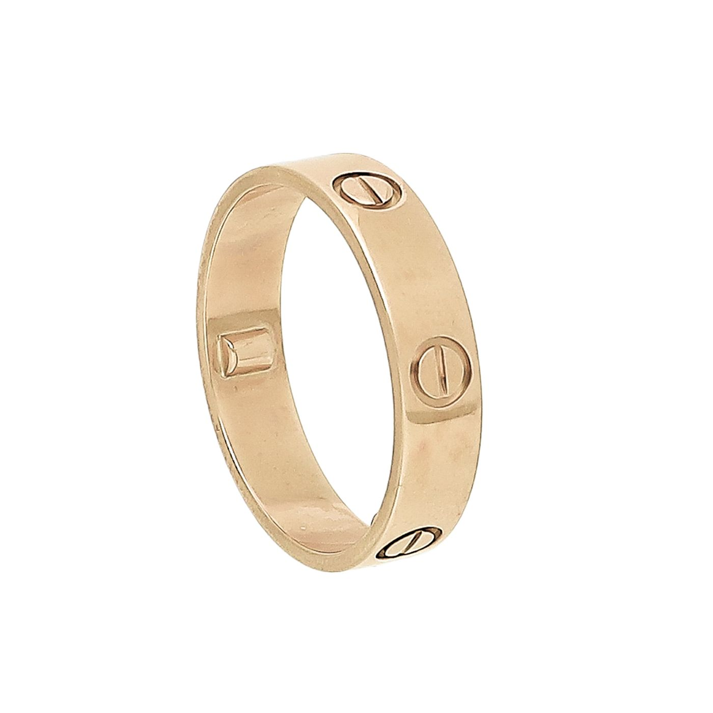 Cartier 18K Yellow Gold Love Ring 67