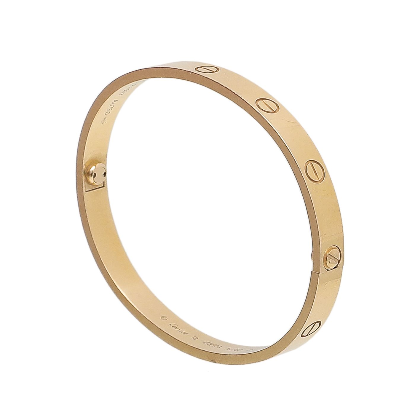 Cartier 18K Yellow Gold Love Bracelet 18