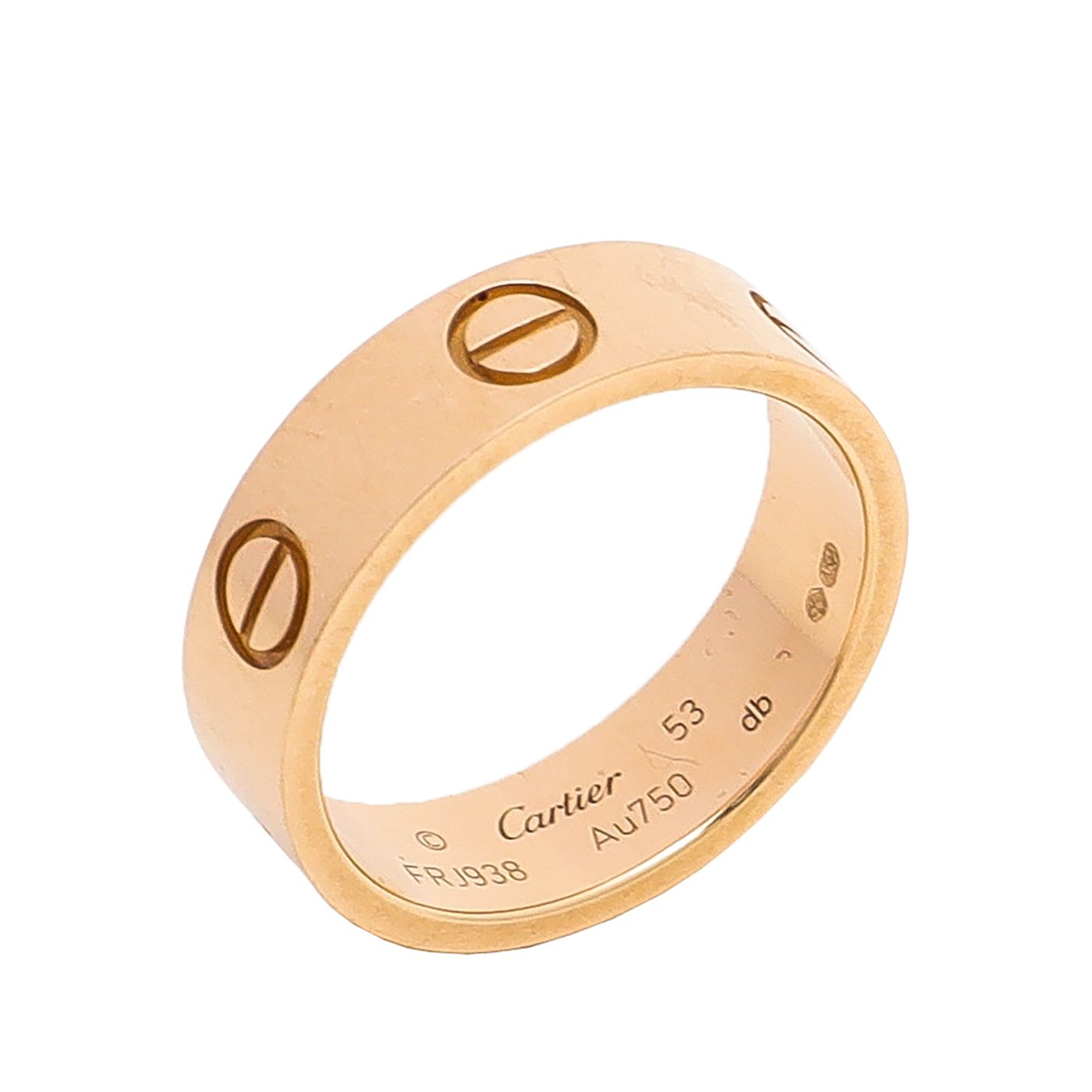 Cartier 18K Yellow Gold Love Ring 53
