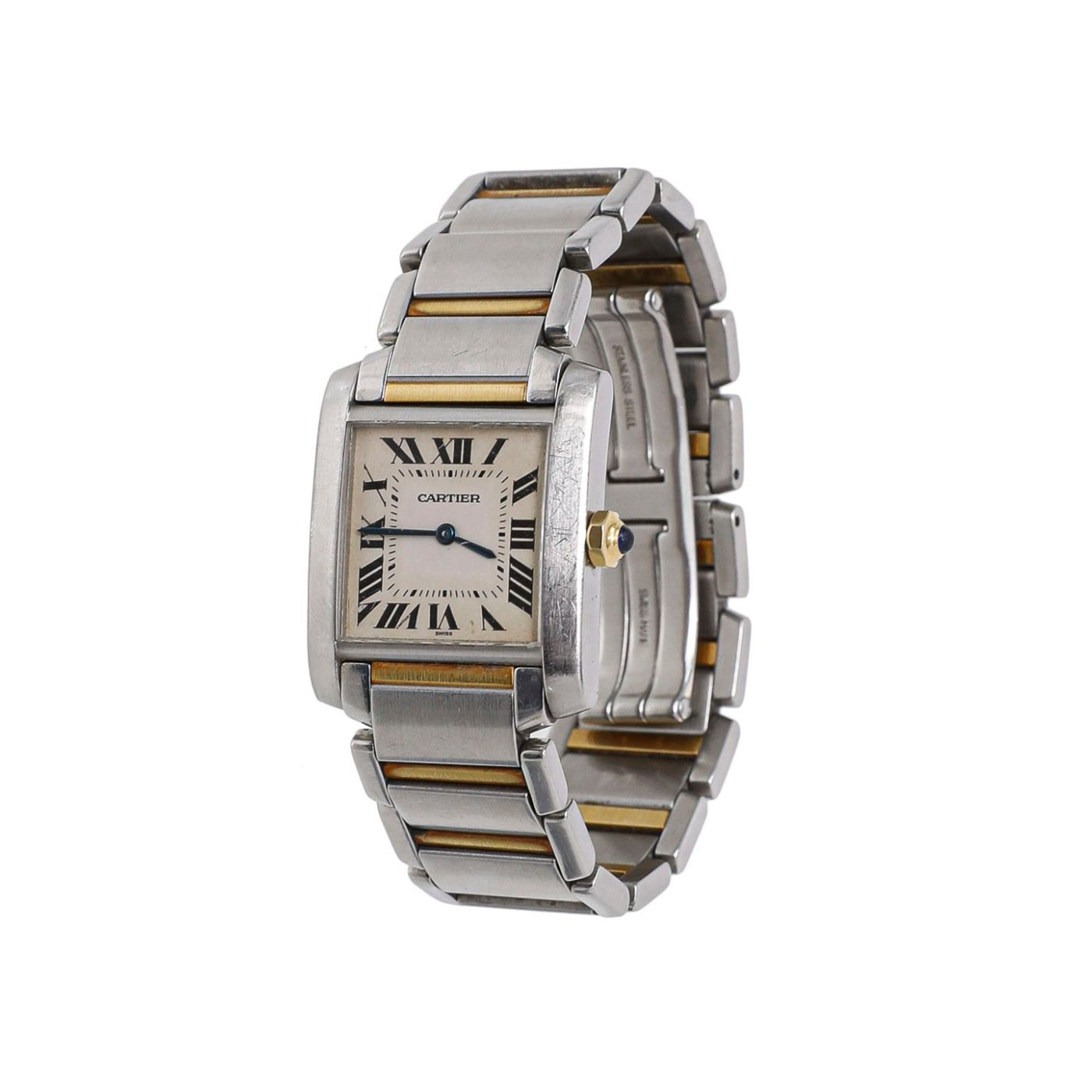 Cartier Steel & Gold Tank Francaise Watch