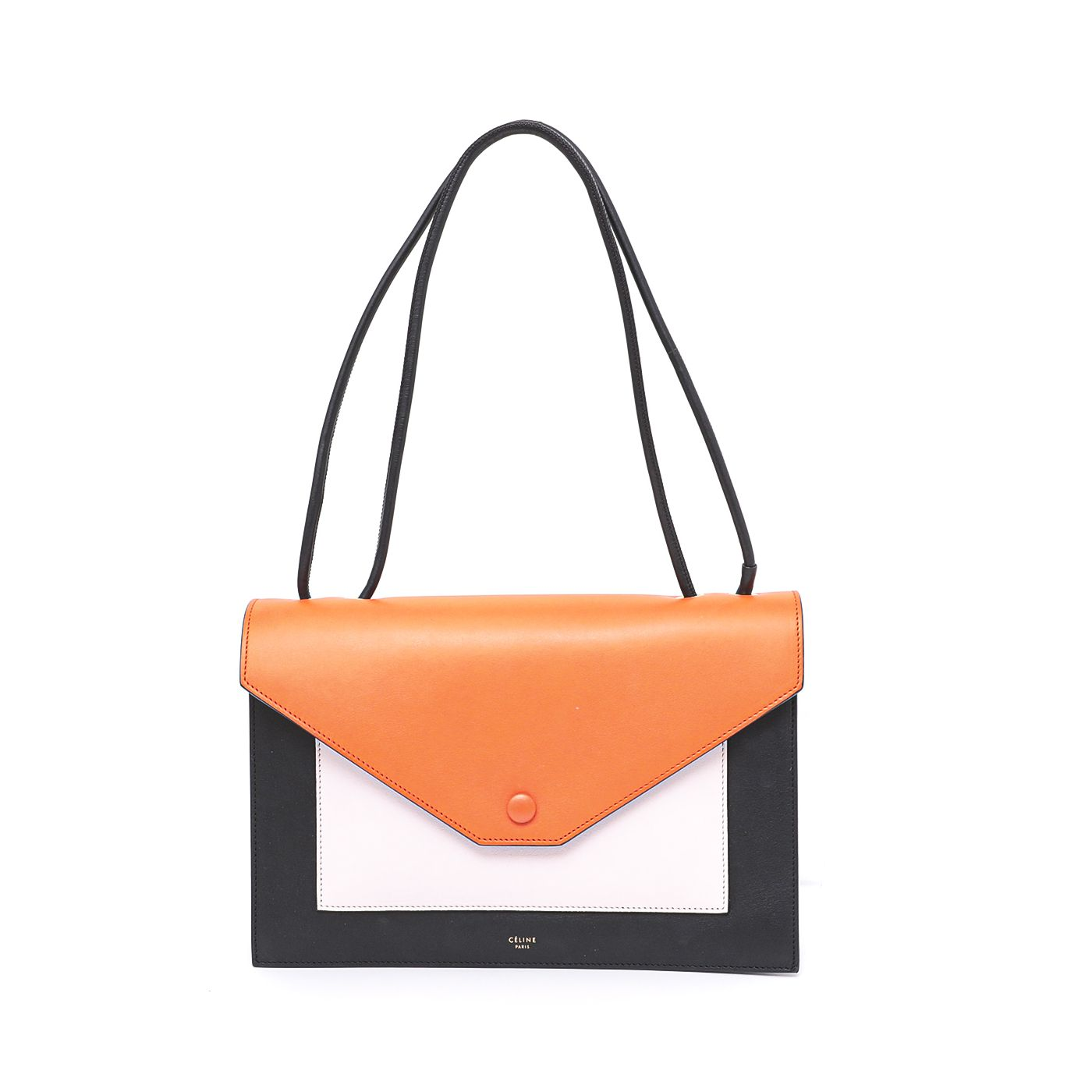 Celine Tricolor Envelope Pocket Flap Shoulder Bag