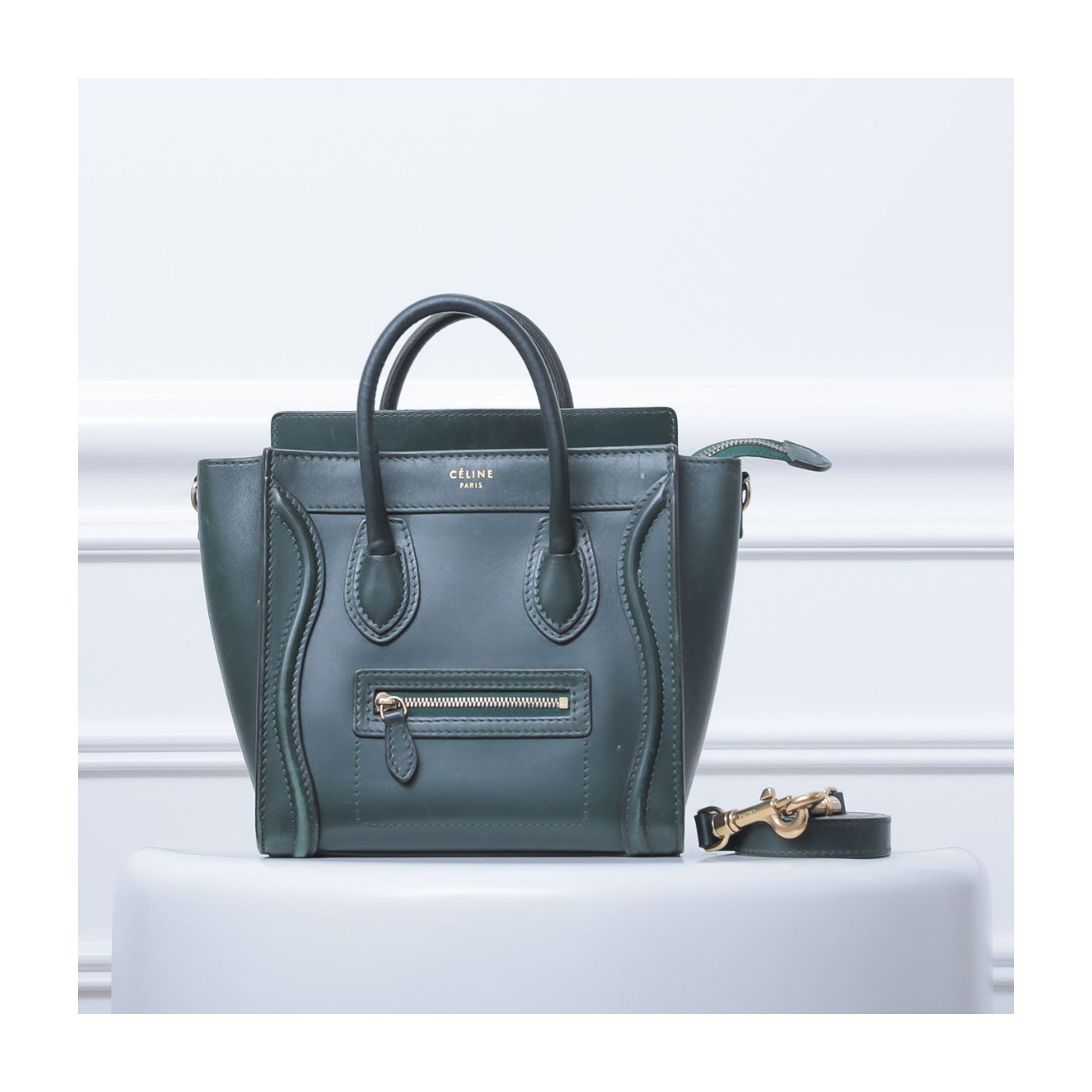 Celine Moss Green Nano Luggage