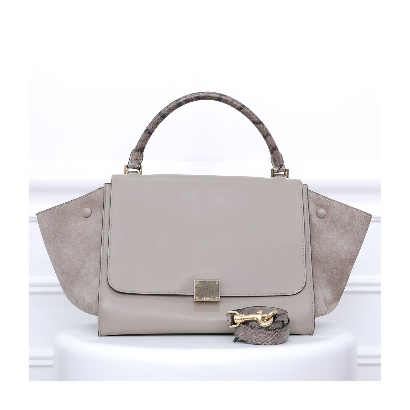 Celine Beige Trapeze Medium