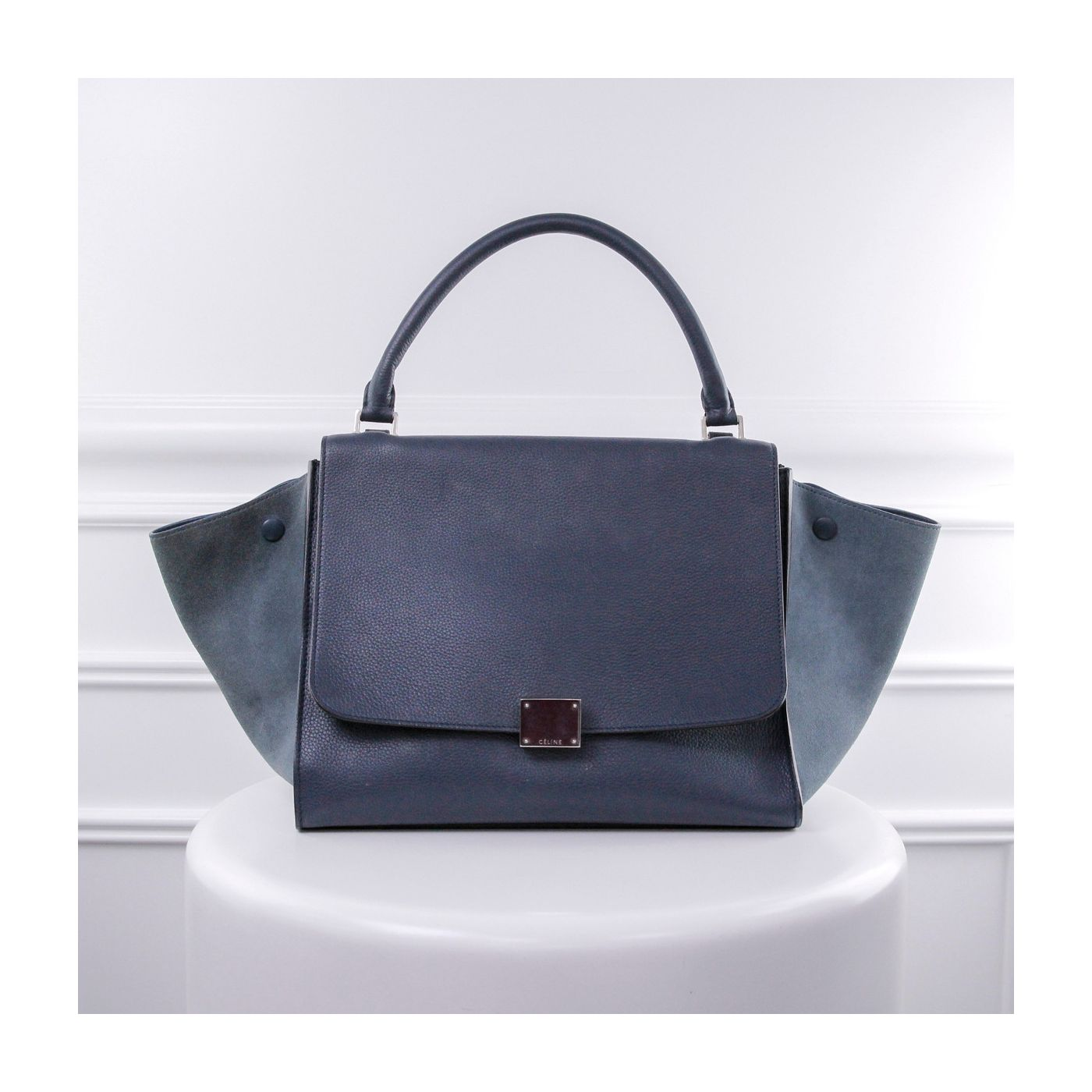 Celine Pale Blue Trapeze Tote Bag
