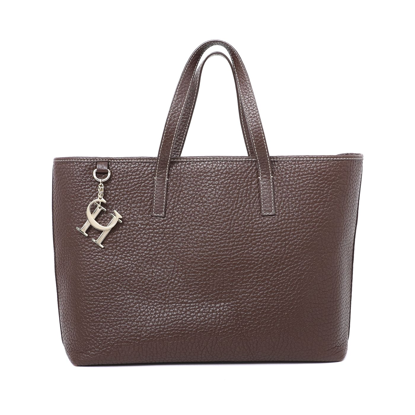 Carolina Herrera Brown Shopping Tote Bag
