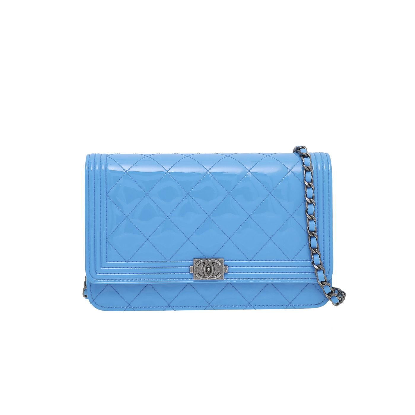 Chanel Blue Boy Wallet on Chain Small