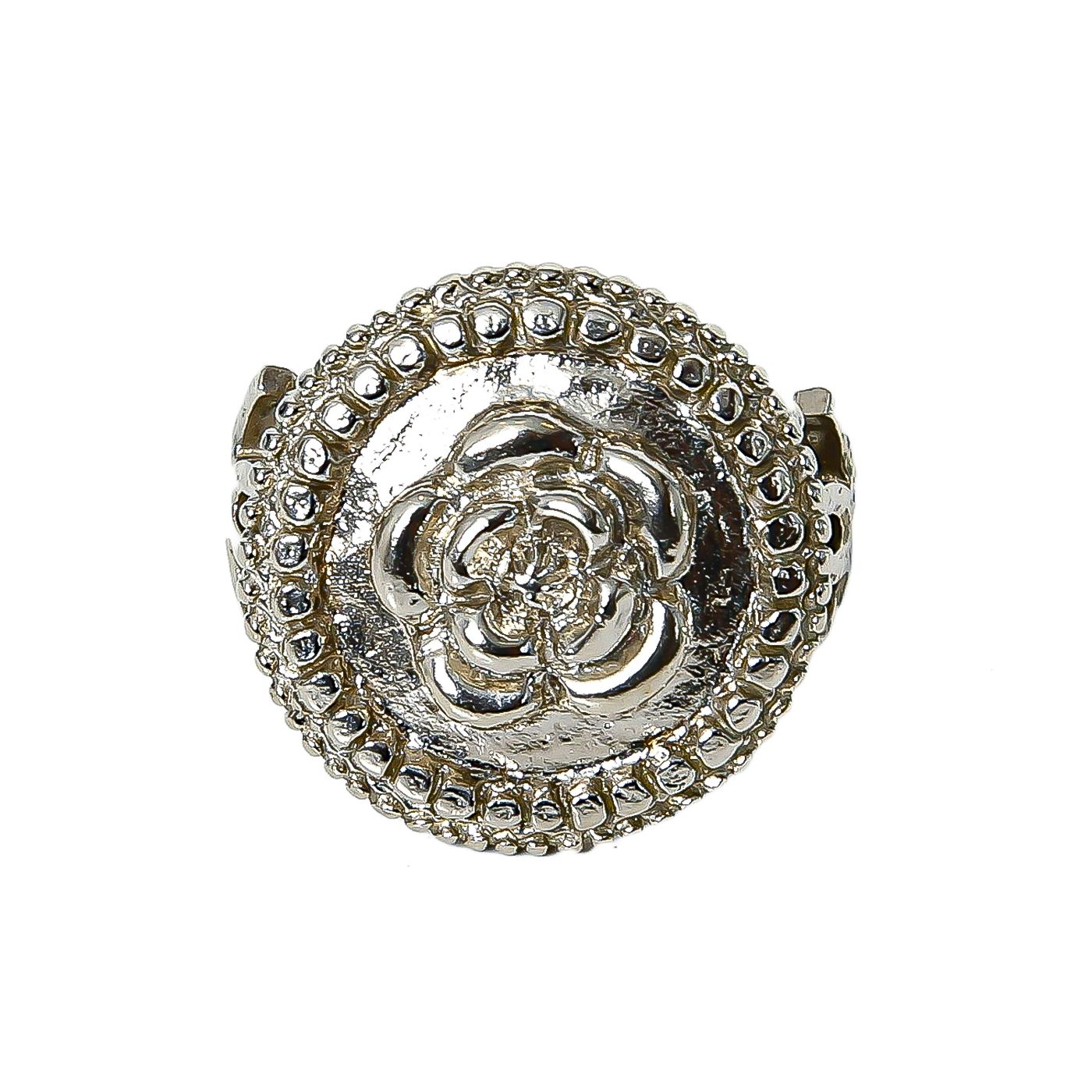 Chanel Camellia Plate CC Ring Small