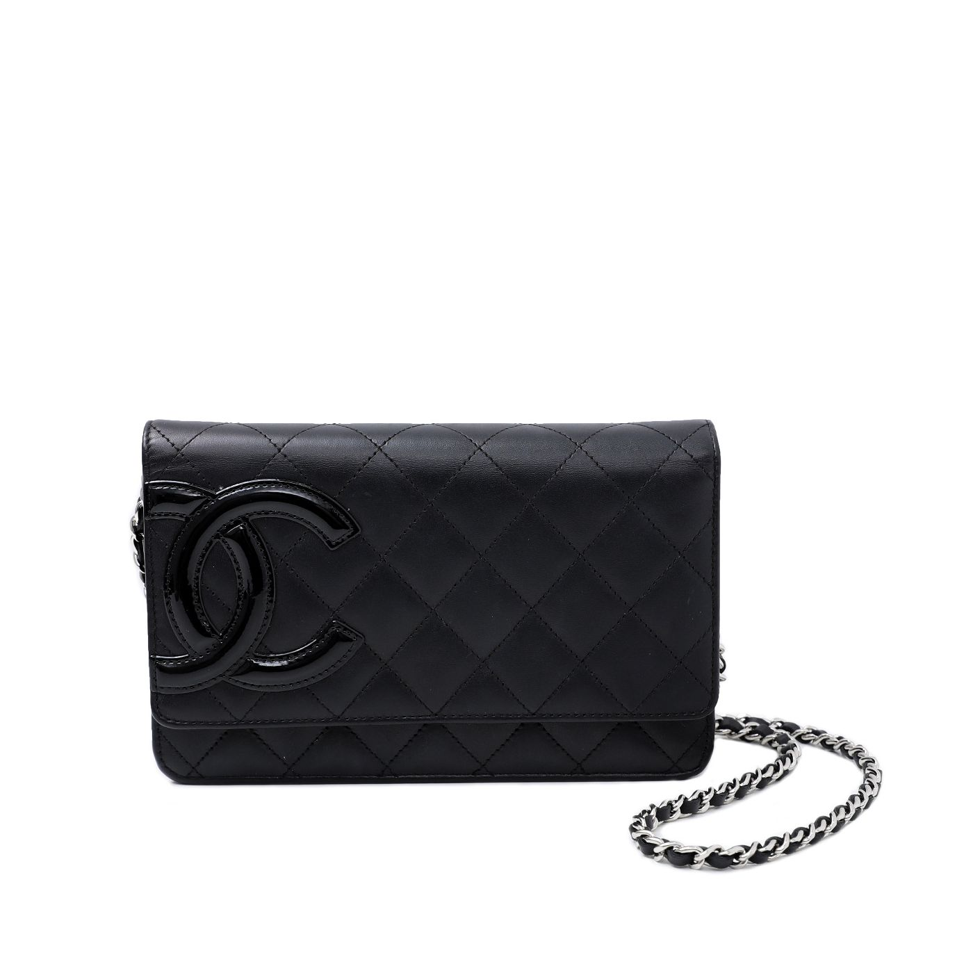 Chanel Black CC Cambon Wallet On Chain