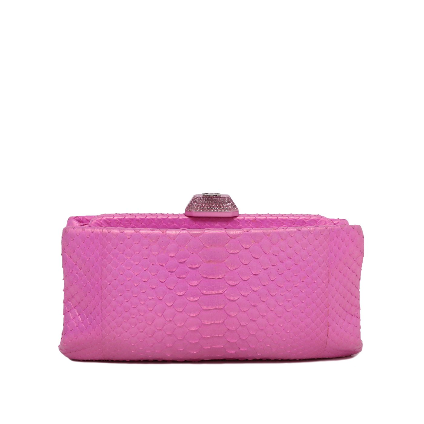 Chanel Pink CC Metallic Python Clutch