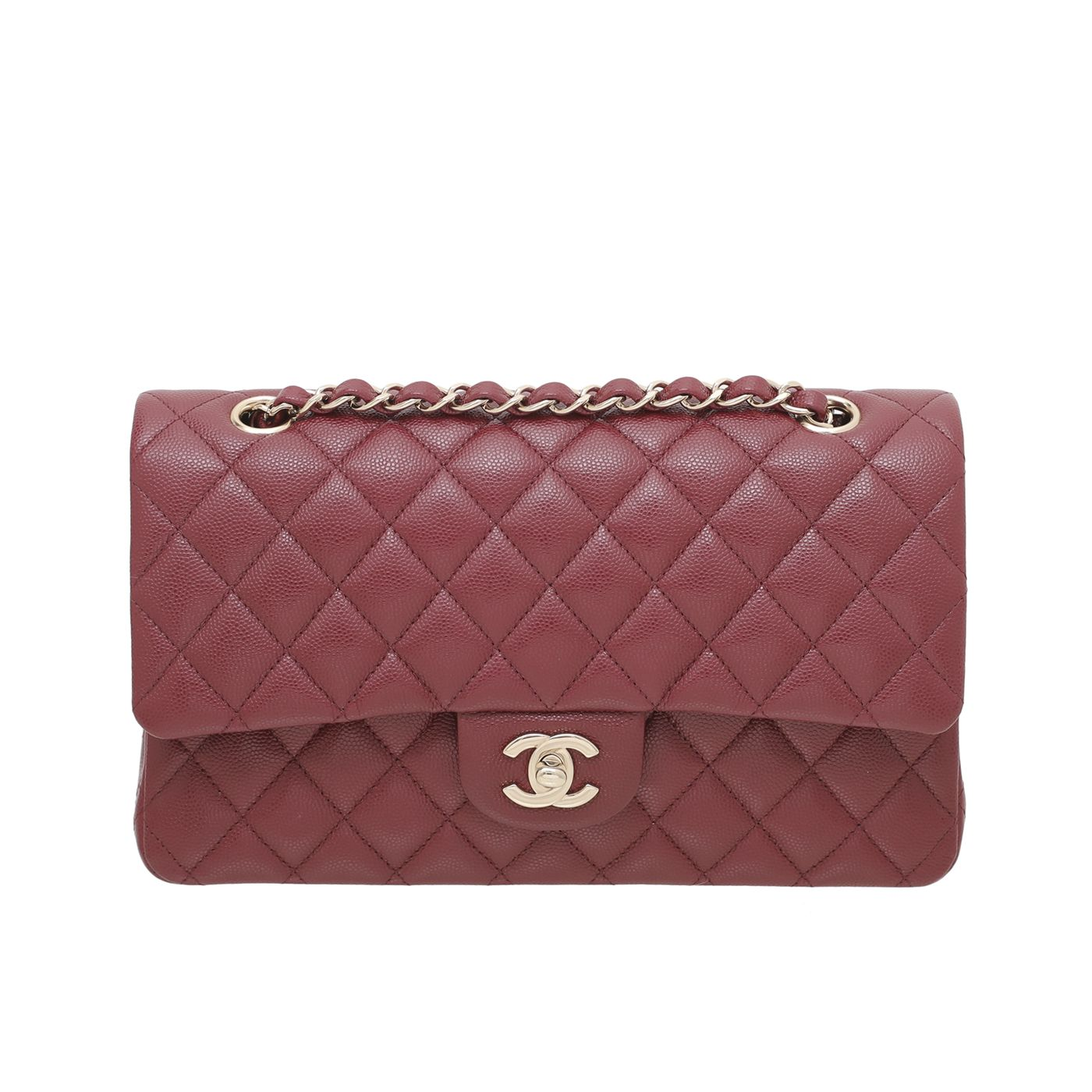 Chanel Red Classic Double Flap Medium Bag