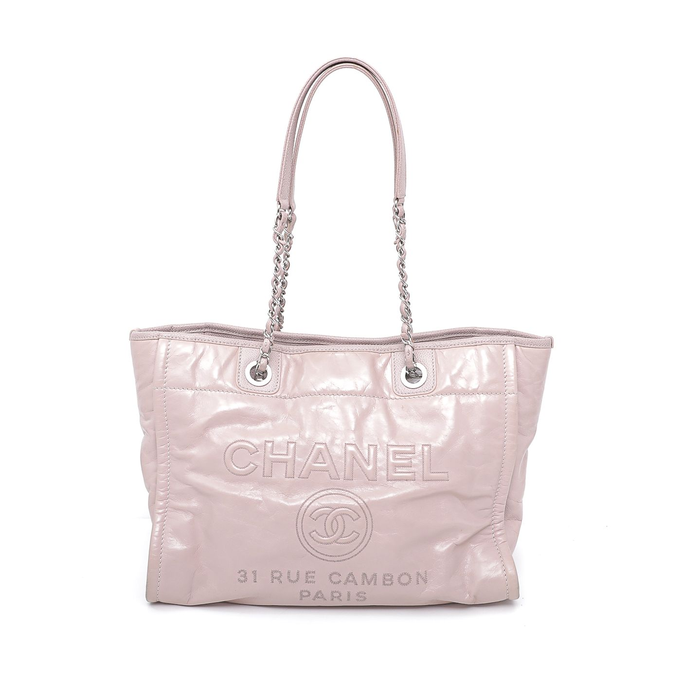Chanel Blush Pink Deauville Tote Small Bag