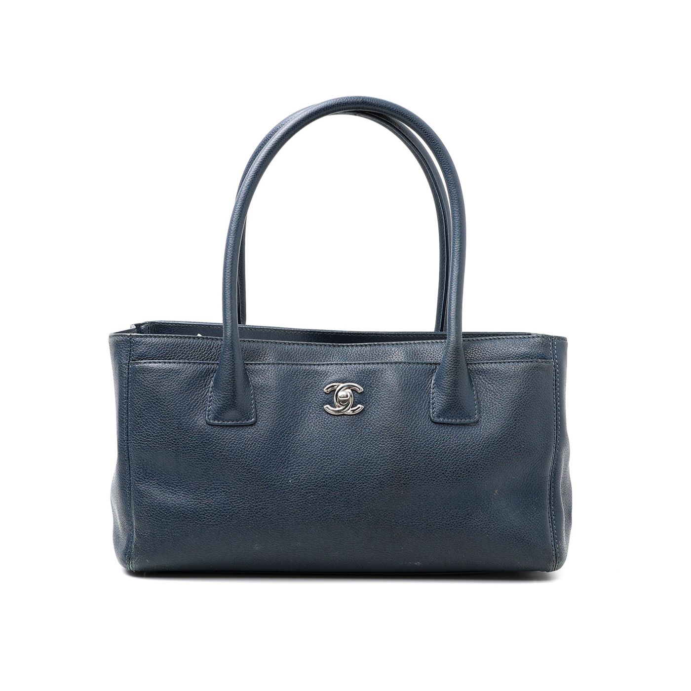 Chanel Blue Executive Cerf Tote Bag