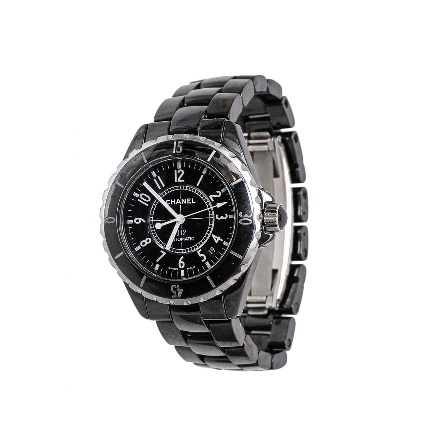 Chanel Black Ceramic / Steel  J12 Automatic 38mm Watch