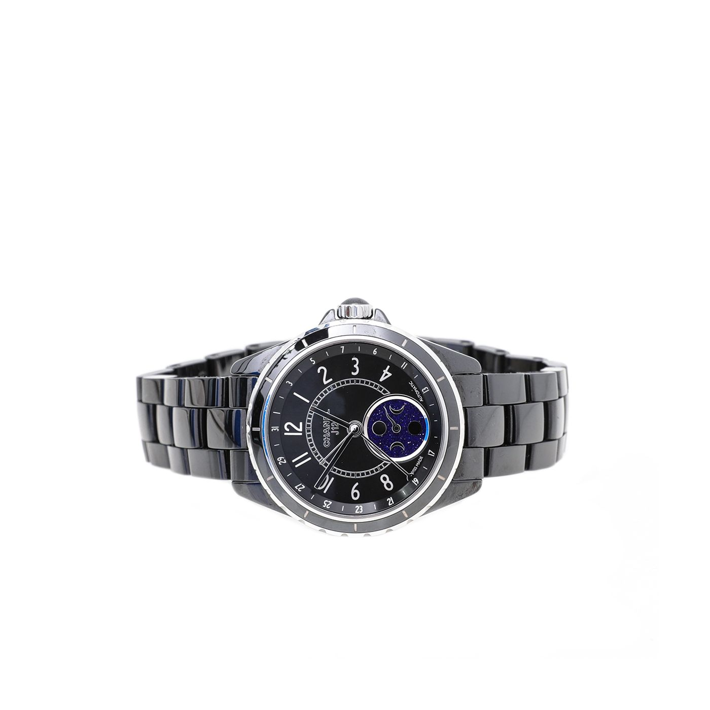 Chanel Black Ceramic J12 Moonphase 38mm Watch