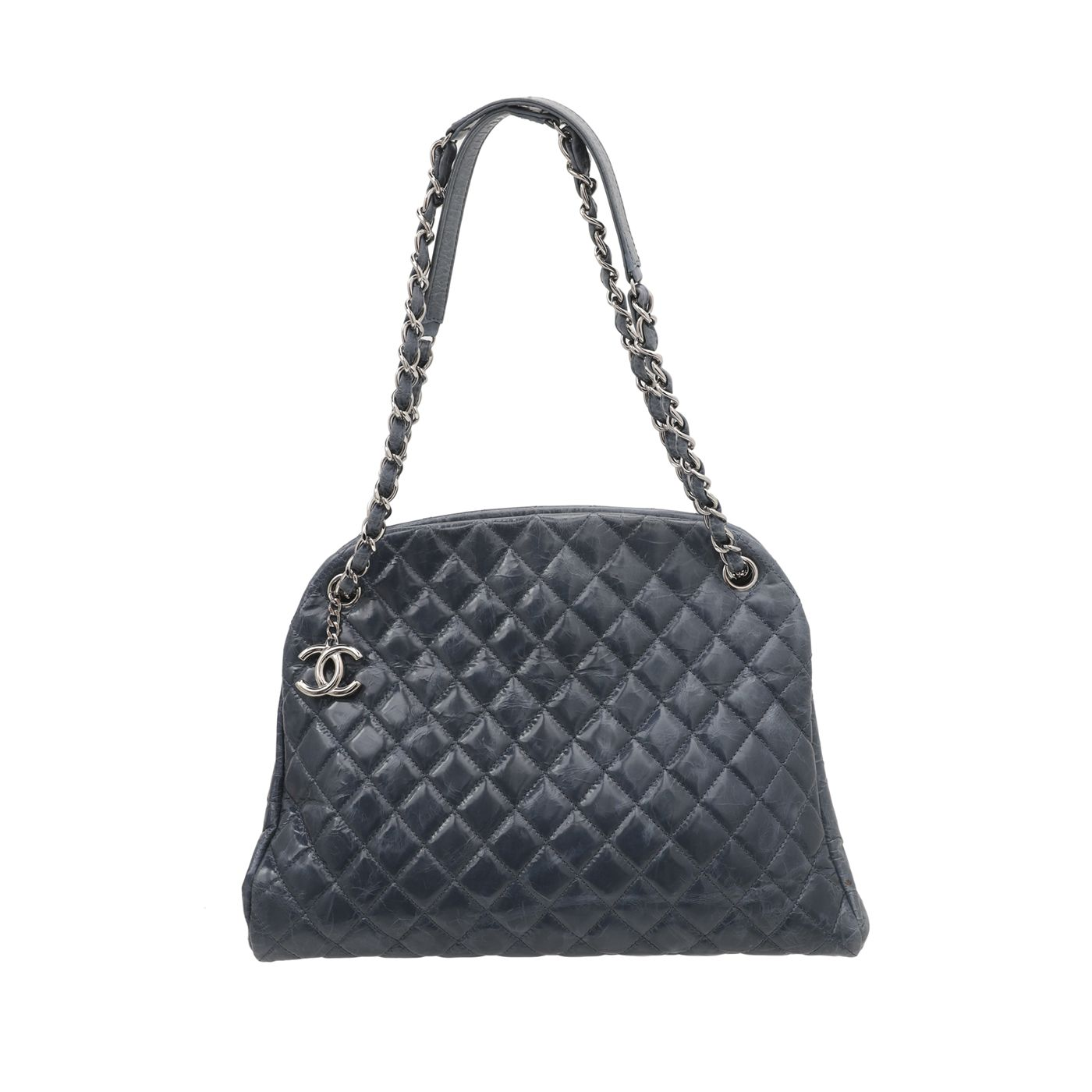 Chanel Blue Just Mademoiselle Bowling Bag
