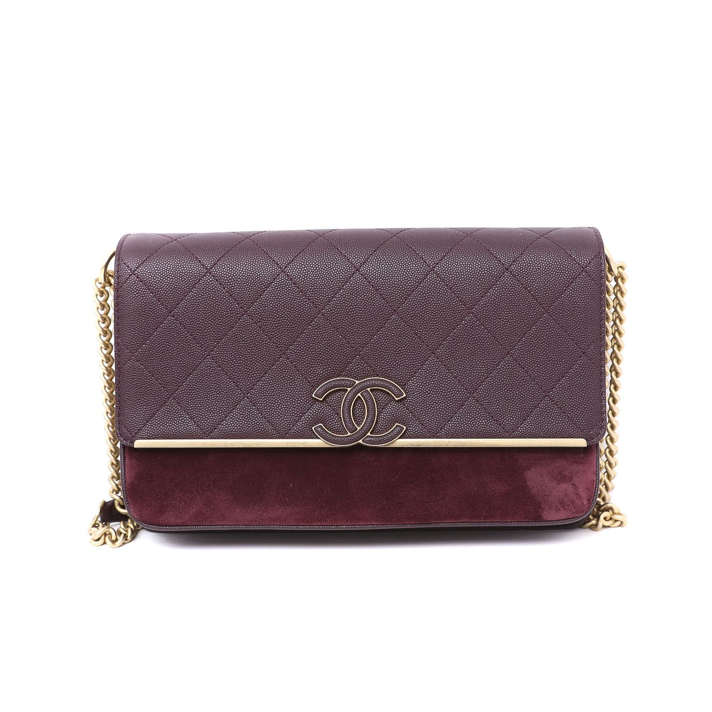 Chanel Burgundy Lady Coco Flap Bag Medium