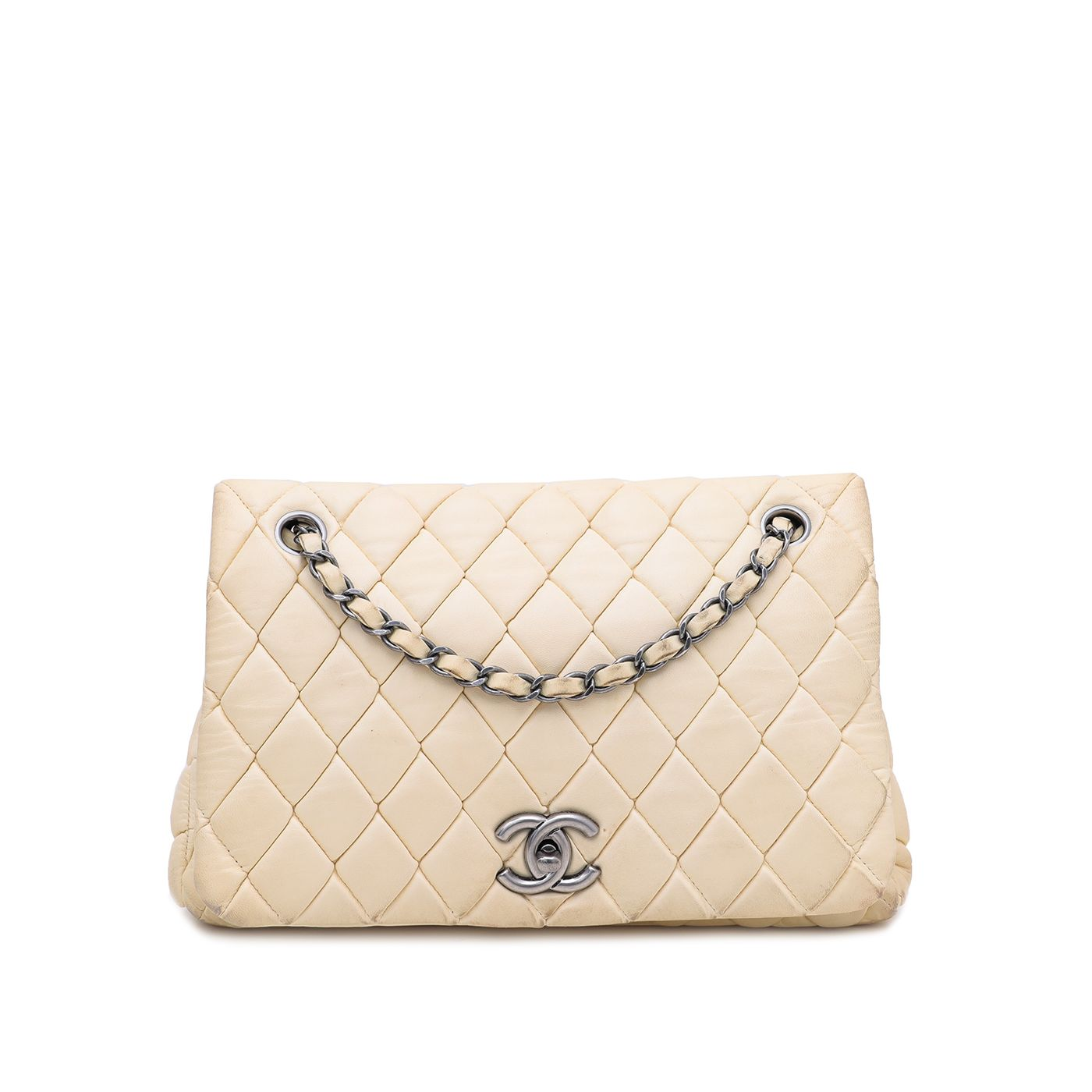 Chanel Beige New Bubble Small Flap Bag