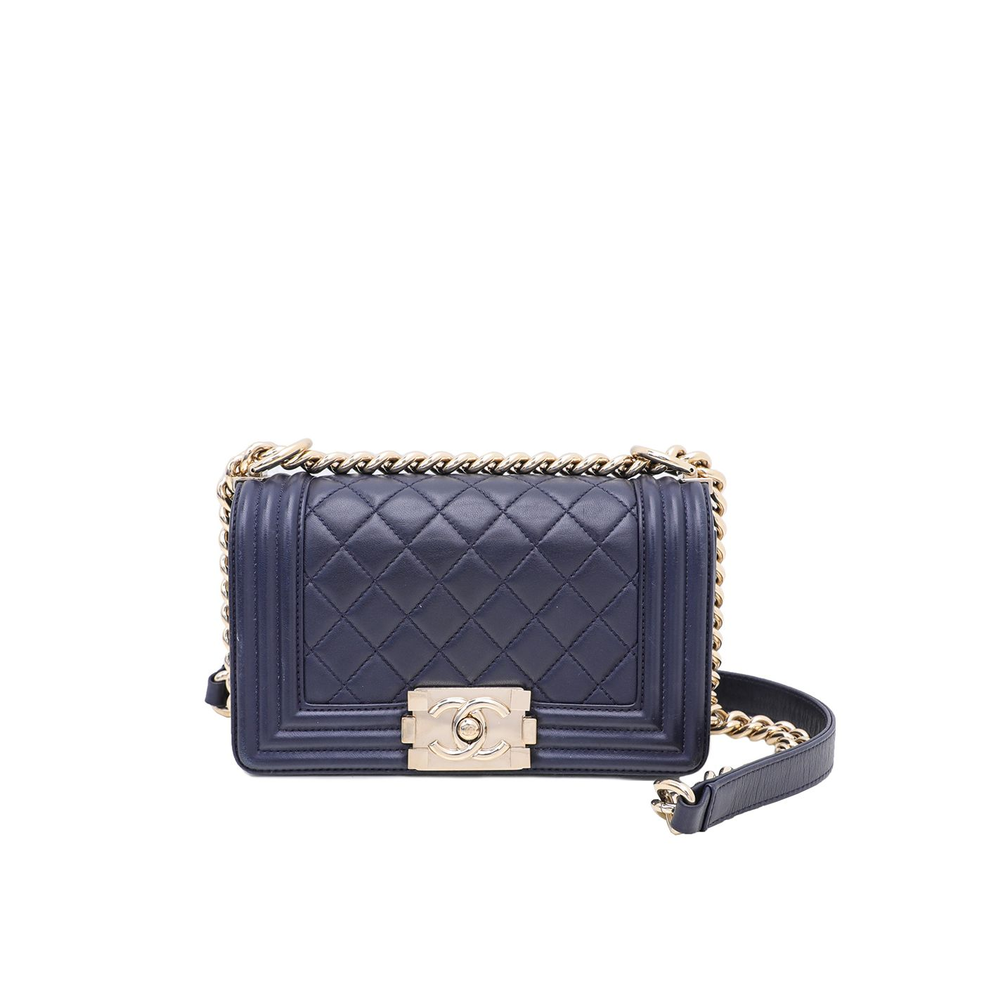 Chanel Navy Blue Le Boy Small Bag