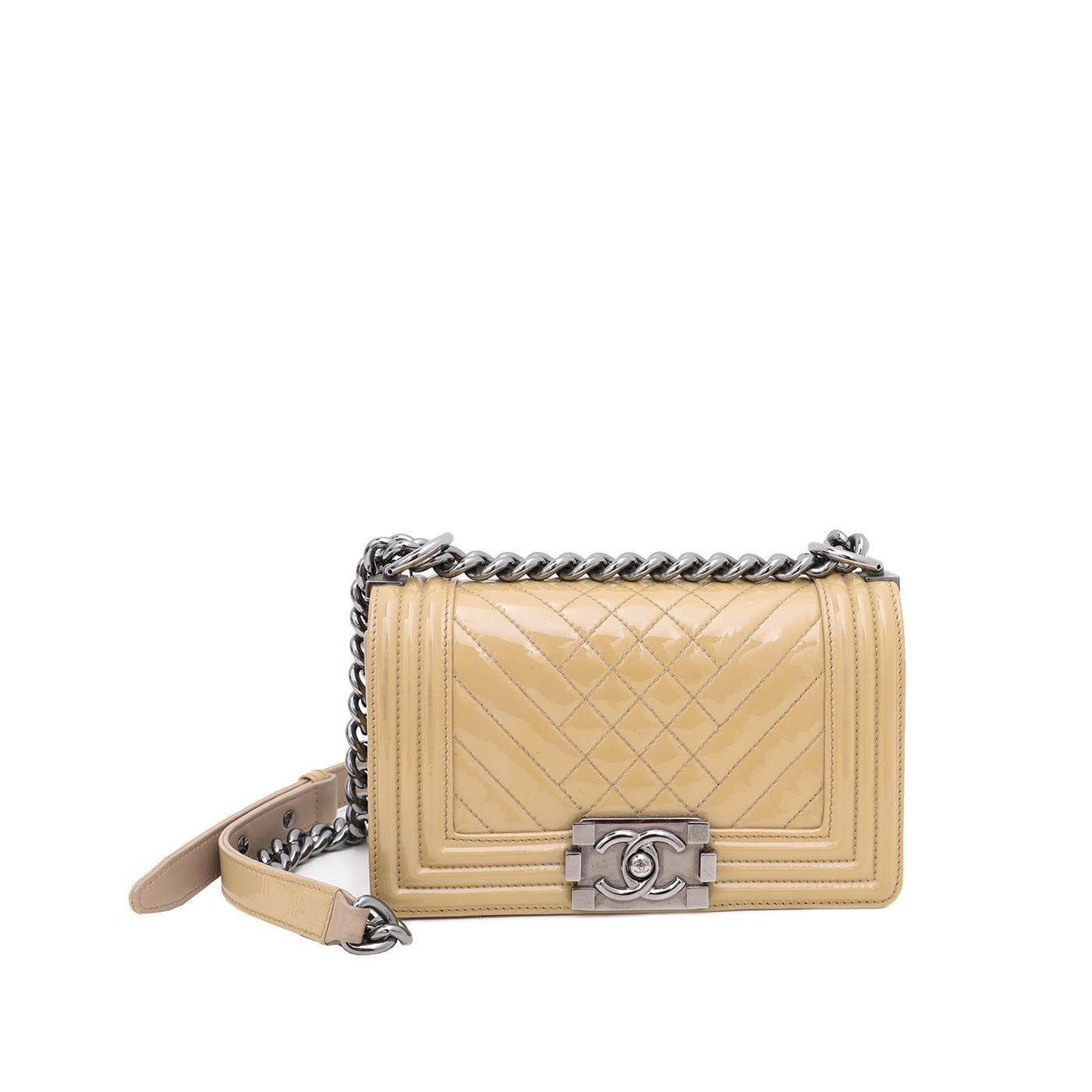 Chanel Beige Le Boy Mix Quilted Flap Small Bag