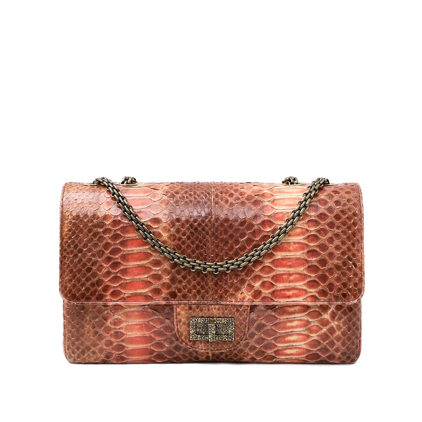 Chanel Pink Ombre Python 2.55 Reissue Bag