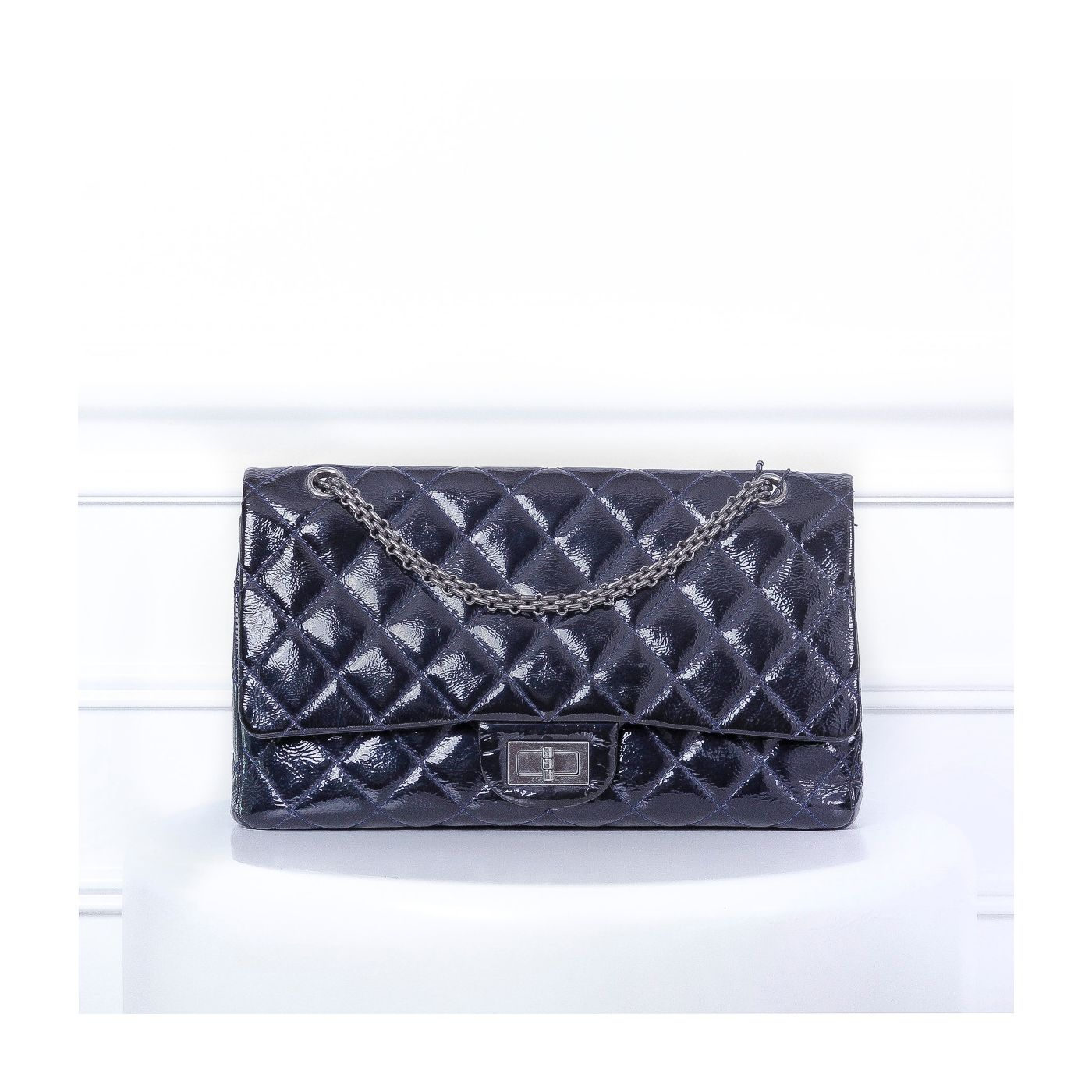 Chanel Blue Reissue Tote Double Flap Bag
